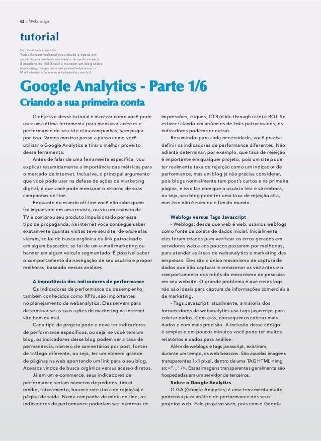 Tutorial googleanalytics webdesign