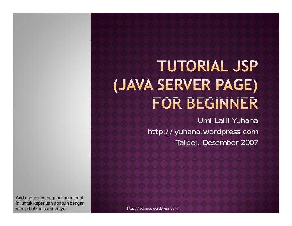 Tutorial Jsp (Java Server Page) Bagian 1