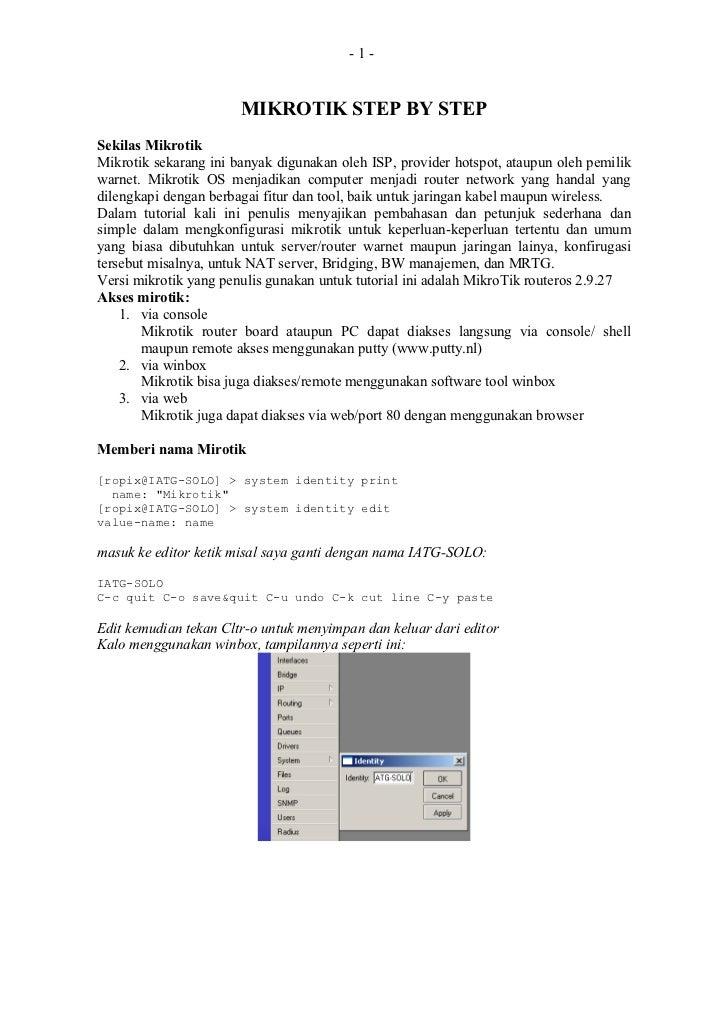 Tutorial mikrotik-step-by-step