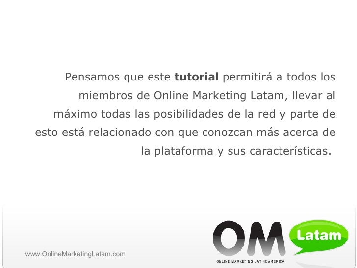 Online Marketing Latam tutorial