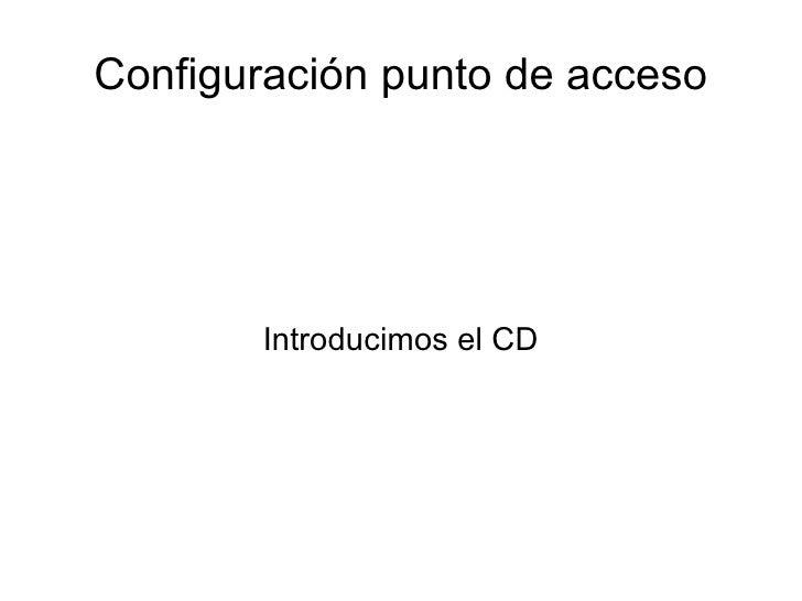 Configuración punto de acceso