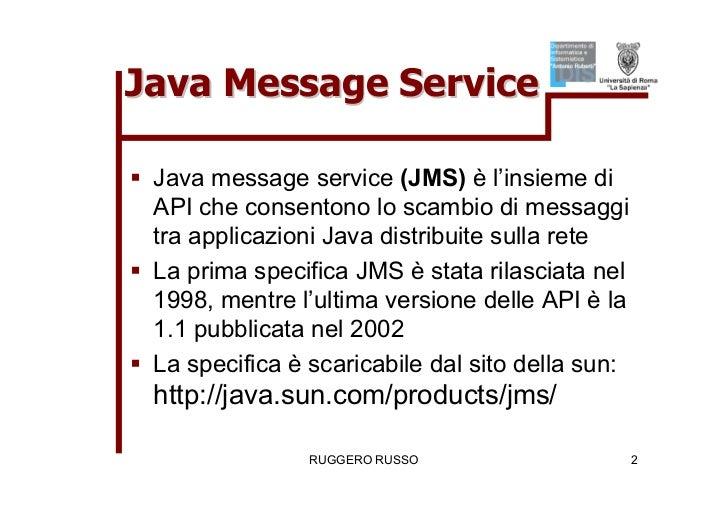 Tutorial su JMS (Java Message Service)