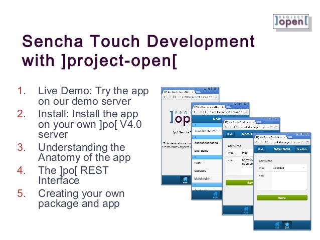 Tutorial: Writing Sencha Touch Mobile Apps using ]project-open[