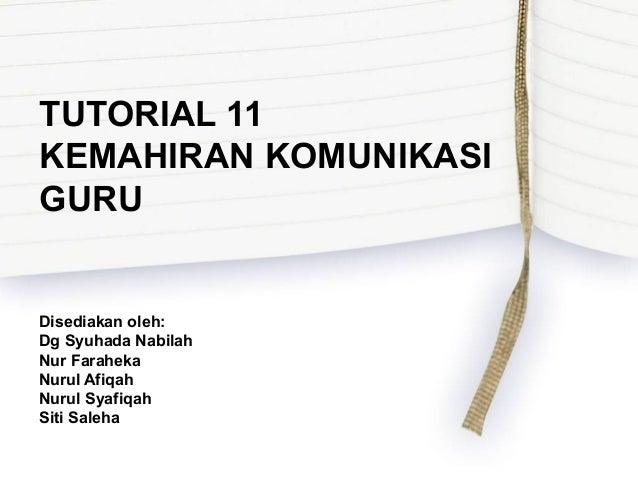 Tutorial 11
