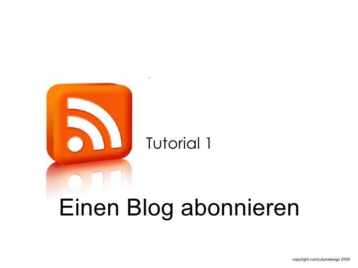 Einen Blog abonnieren  Tutorial 1