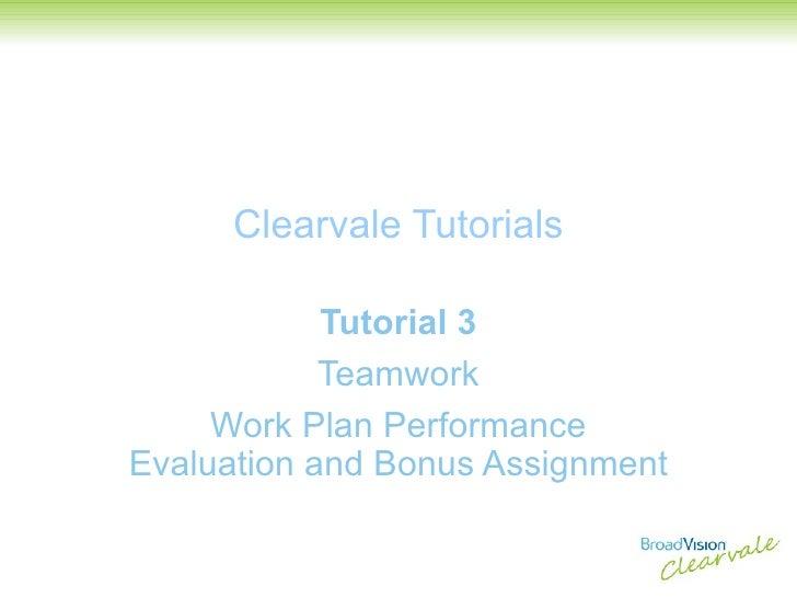 Tutorial 3   Teamwork   Work Plan Performance Evaluation And Bonus Assignment V2.0
