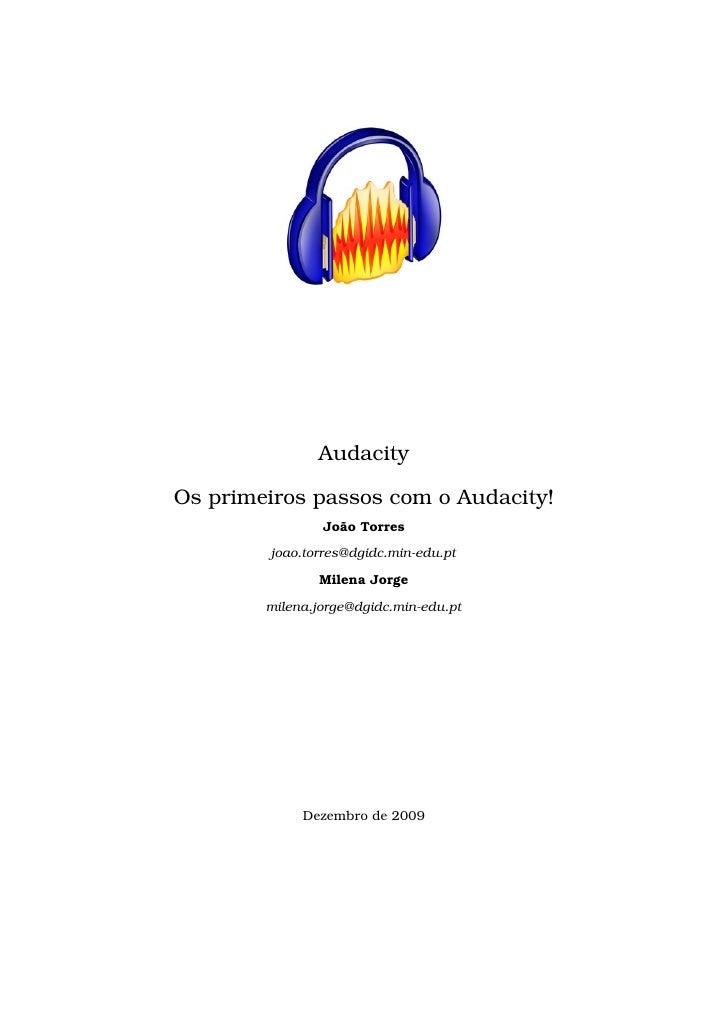Audacity - Os primeiros passos