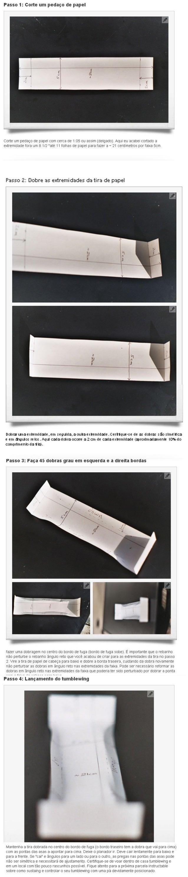 Tutorial avião de Papel - Planador