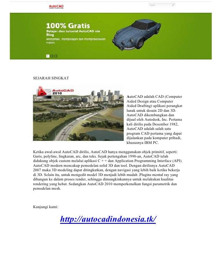 Belajar Tutorial Autocad versi Indonesia