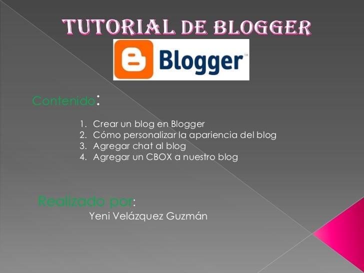 Contenido:      1.   Crear un blog en Blogger      2.   Cómo personalizar la apariencia del blog      3.   Agregar chat al...