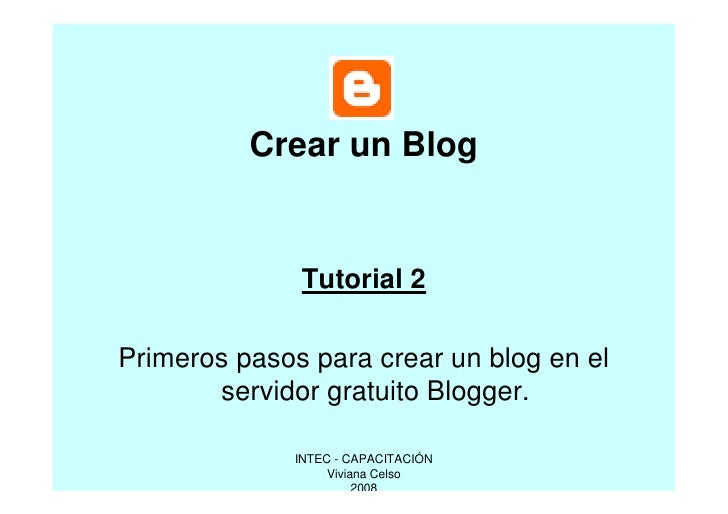 Tutorial Blog Inicial