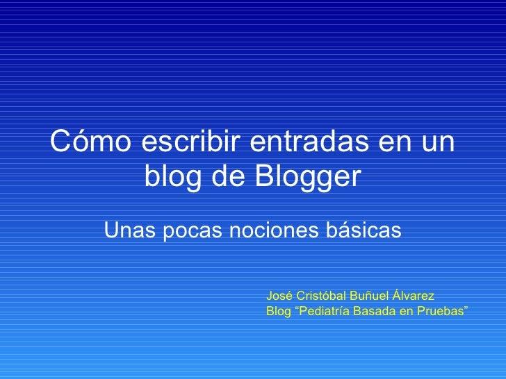 Tutorial Básico Sobre Blogger