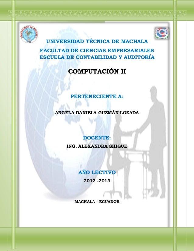 Tutorial computación básica ii