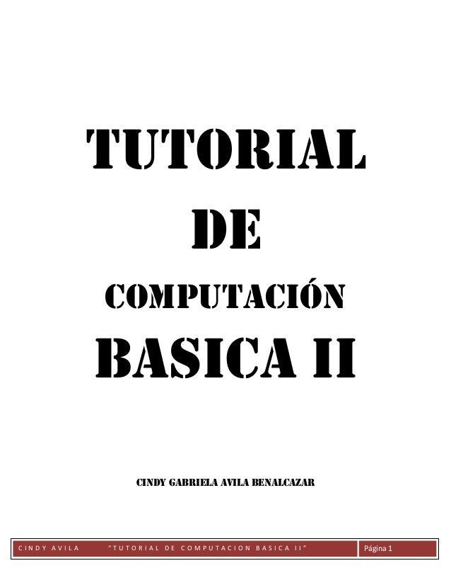 Tutorial computacion basica II