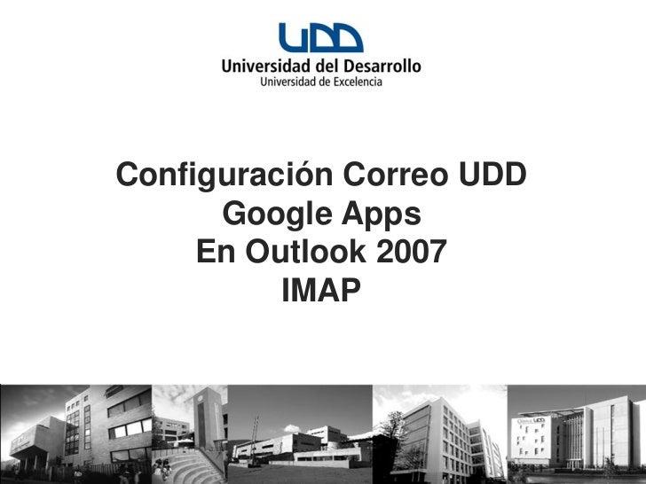 Tutorial configuracion outlook 2007 imap
