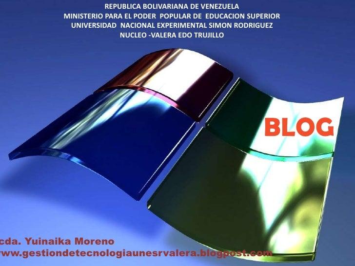 REPUBLICA BOLIVARIANA DE VENEZUELA<br />MINISTERIO PARA EL PODER  POPULAR DE  EDUCACION SUPERIOR<br />UNIVERSIDAD  NACIONA...