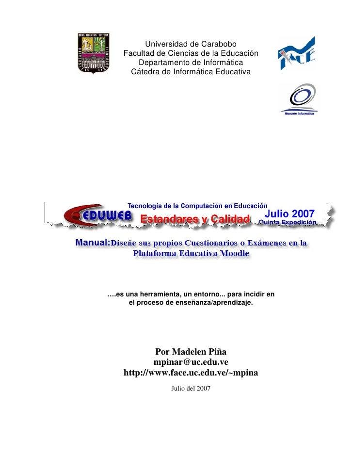 Universidad de Carabobo    Facultad de Ciencias de la Educación       Departamento de Informática      Cátedra de Informát...