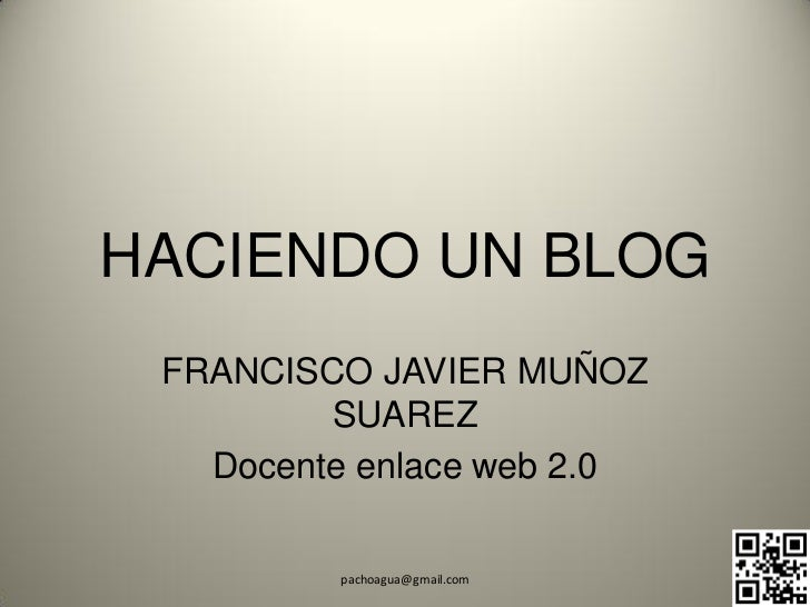 Tutorial de blog   vieja interface