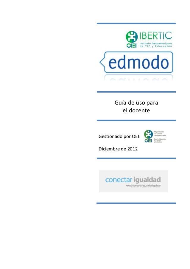 Edmodo Tutorial docentes 2013