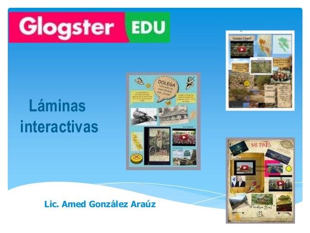 Láminas interactivas Lic. Amed González Araúz