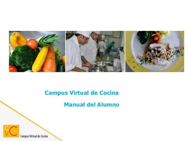 Campus Virtual de Cocina      Manual del Alumno