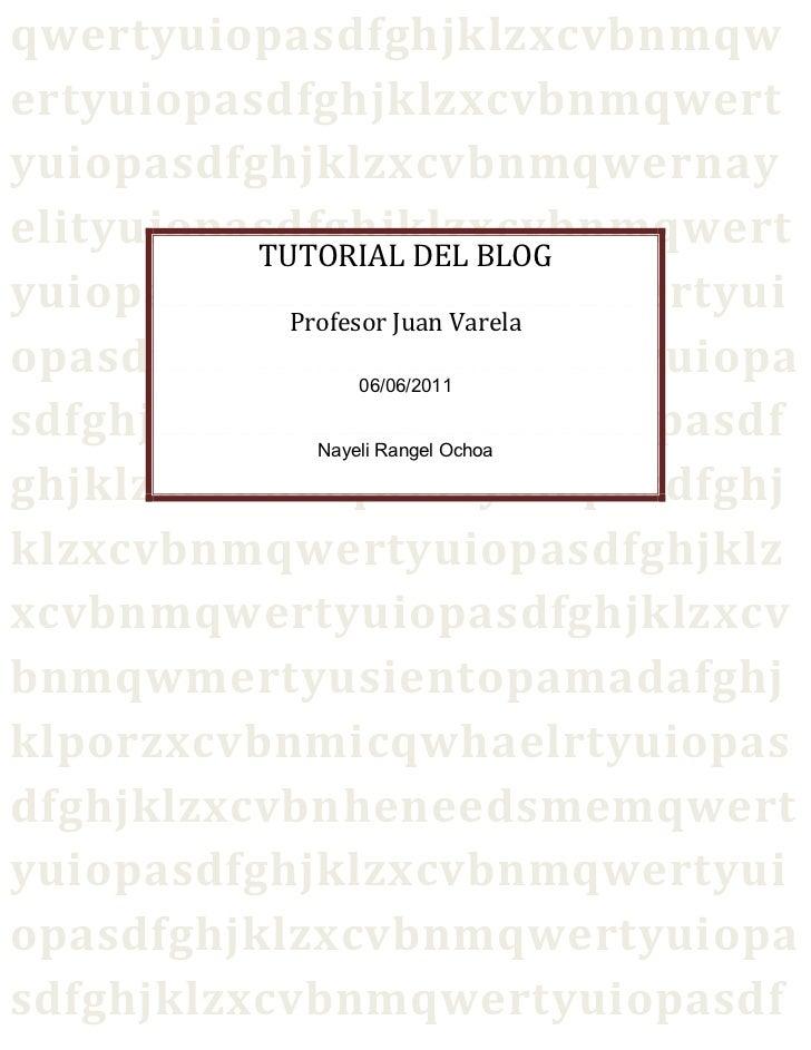 Tutorial del blog (repaired)