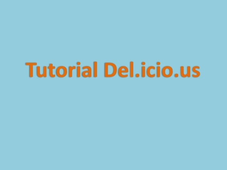 Tutorial Del.icio.us<br />