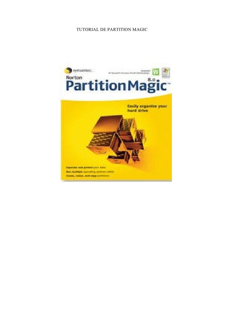 TUTORIAL DE PARTITION MAGIC
