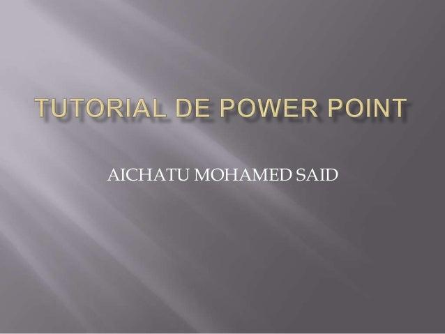 AICHATU MOHAMED SAID