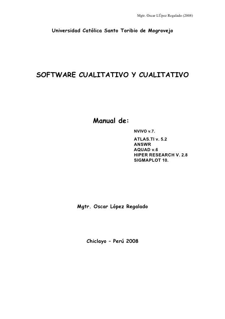 Tutorial De Software Cualitativo
