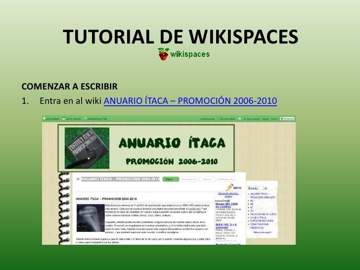 Tutorial de wikispaces