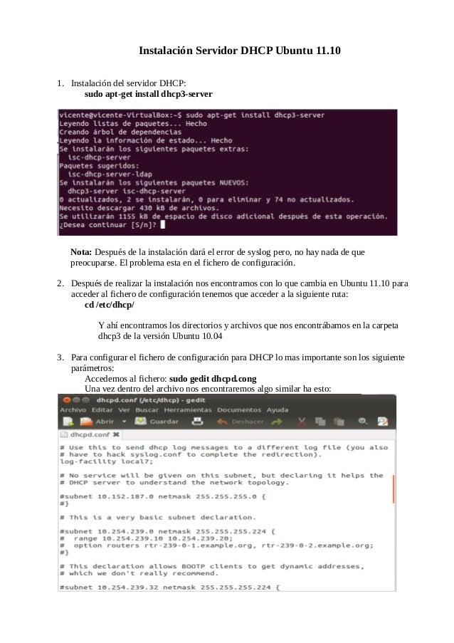 Tutorial dhcp ubuntu11