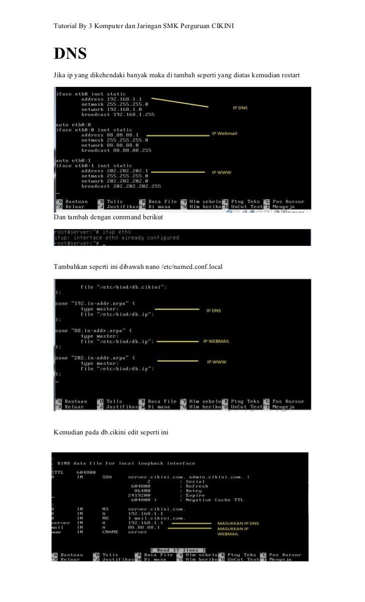 Tutorial By 3 Komputer dan Jaringan SMK Perguruan CIKINIDNSJika ip yang dikehendaki banyak maka di tambah seperti yang dia...