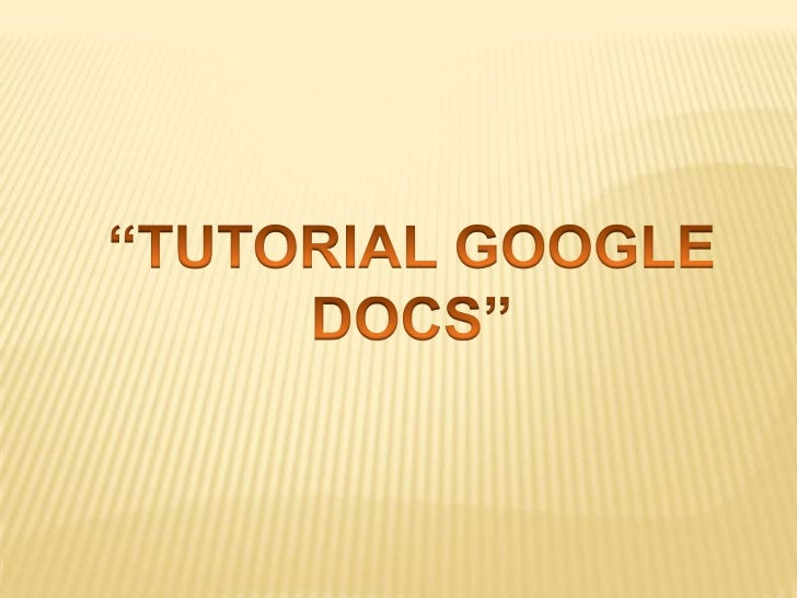 Tutorial docs presentesss