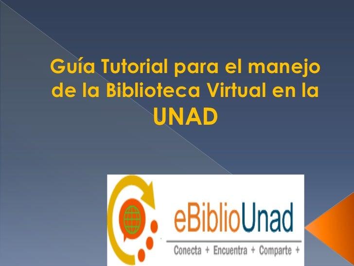 Tutorial  ebiblioUNAD