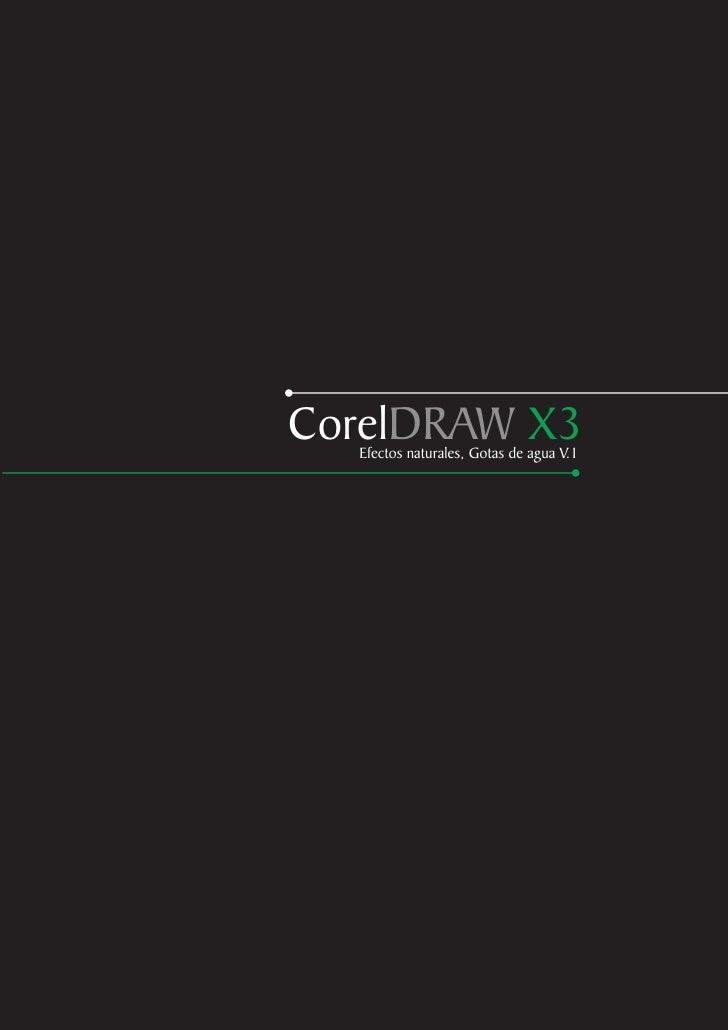 CorelDRAW X3   Efectos naturales, Gotas de agua V.1
