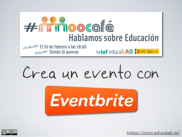 Cómo crear un evento en EVENTBRITE