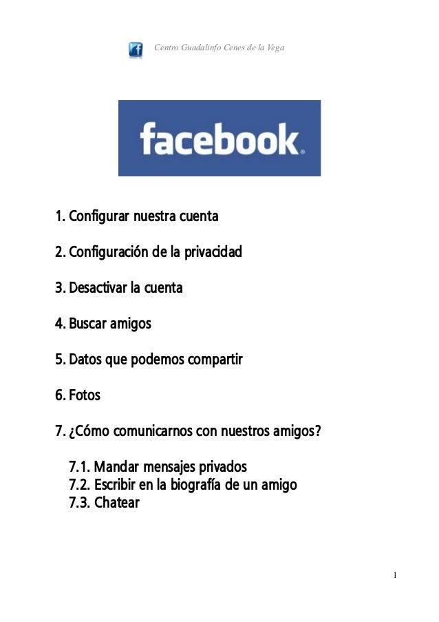 Manual Facebook (2013): cuenta, privacidad, fotos, chatear y mensajes privados.