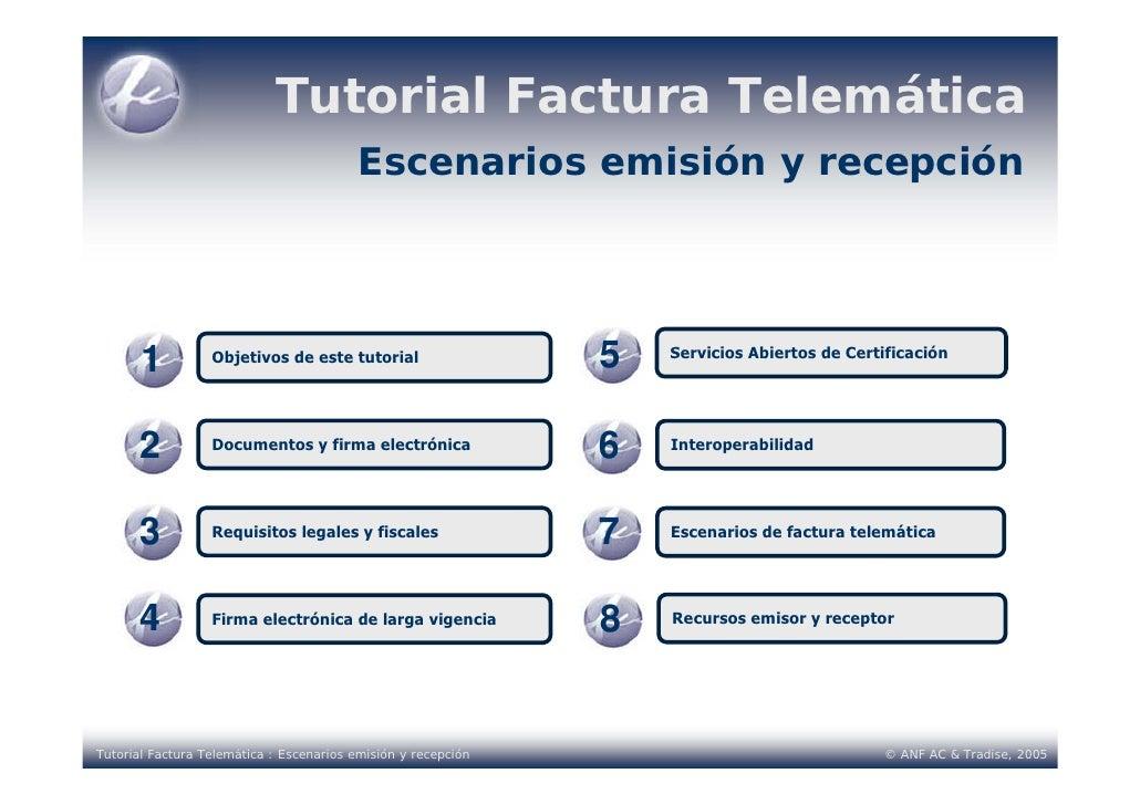 Tutorial Factura Telemática                                           Escenarios emisión y recepción            1         ...