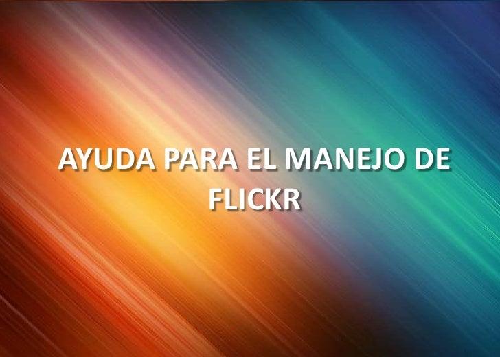 Tutorial flickr (TDS)