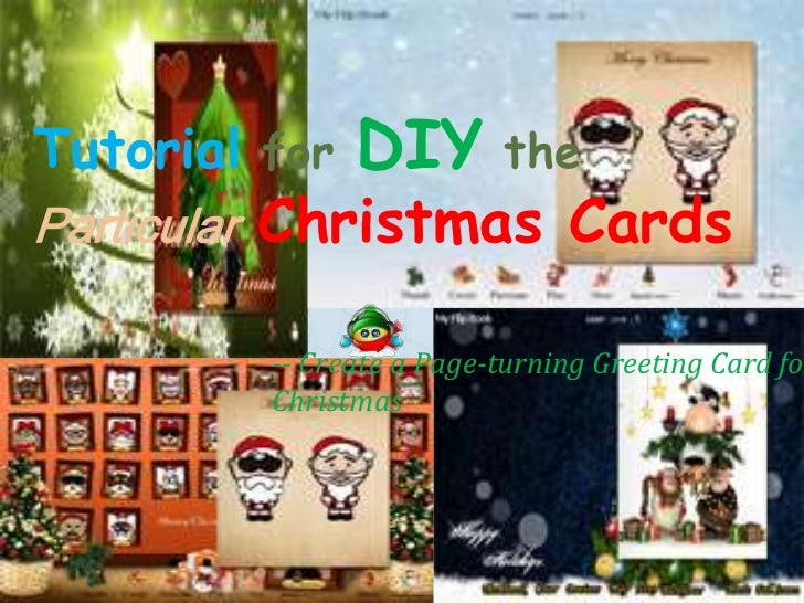 Tutorial for   DIY        theParticular Christmas Cards         -- Create a Page-turning Greeting Card for         Christmas