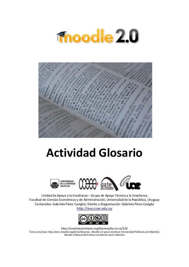 Tutorial glosario - Moodle 2.x