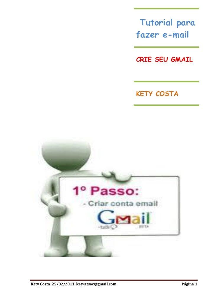 CRIANDO EMAIL GMAIL