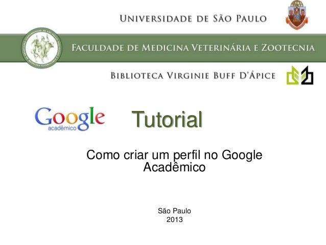 Como criar um perfil no Google Acadêmico