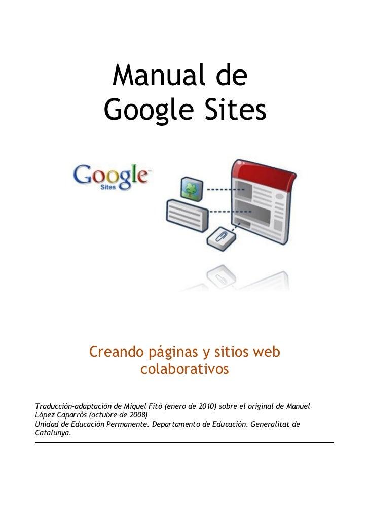 Tutorial+google+sites castellano-completo