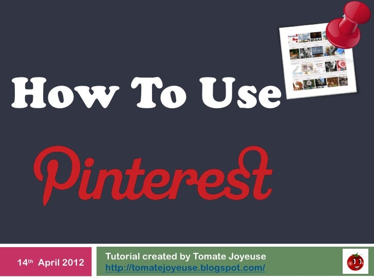 Tutorial how to use Pinterest