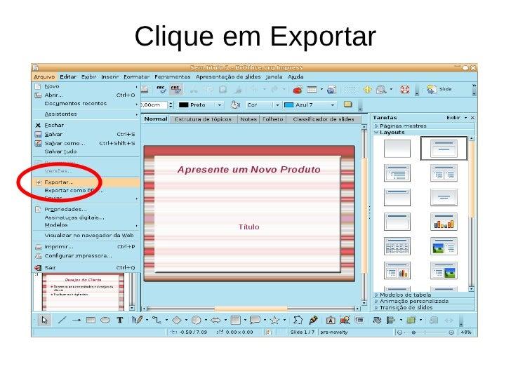 Clique em Exportar