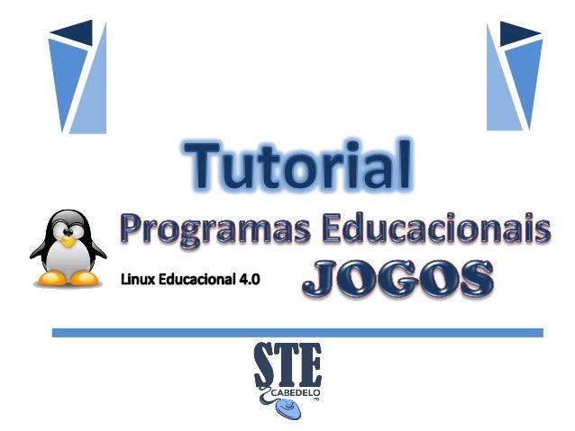 Tutorial Jogos - Programas Educacionais