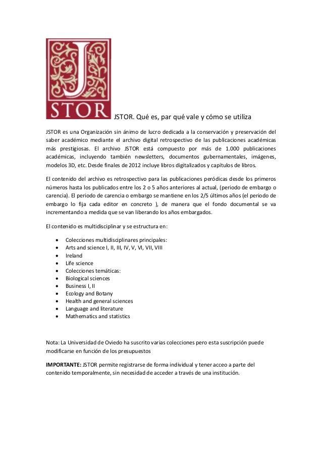 JSTOR.  Tutorial de ayuda