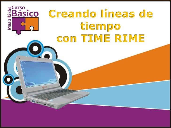 Entrar en www.timerime.com y dar clic        en registrarse o login